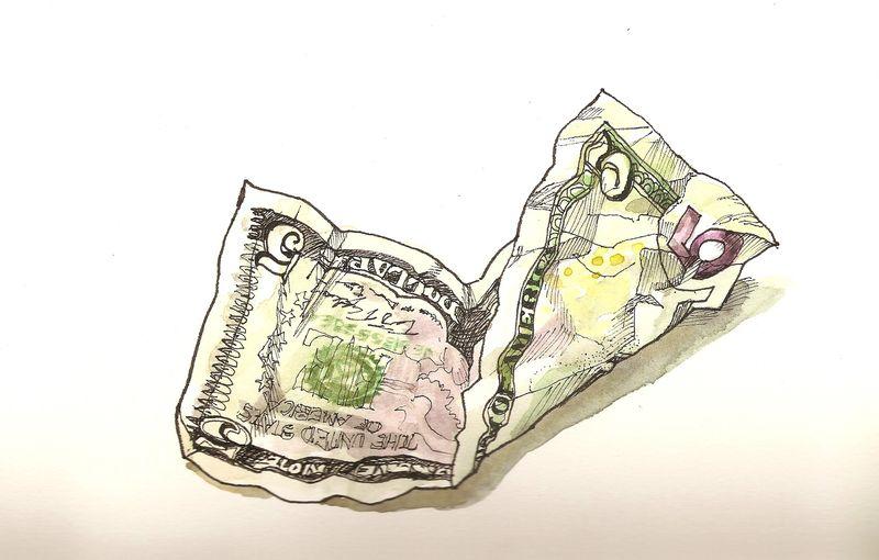 Five Dollars Scanned Image 2