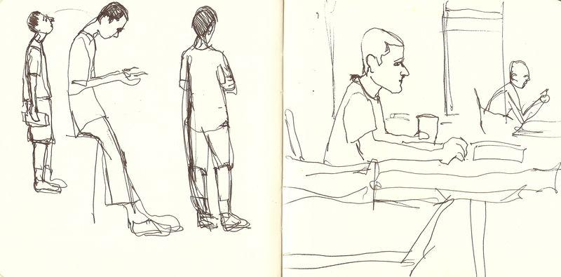 Coffee shop drawings.