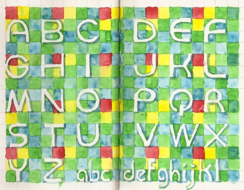 Sans-serif quilt typography