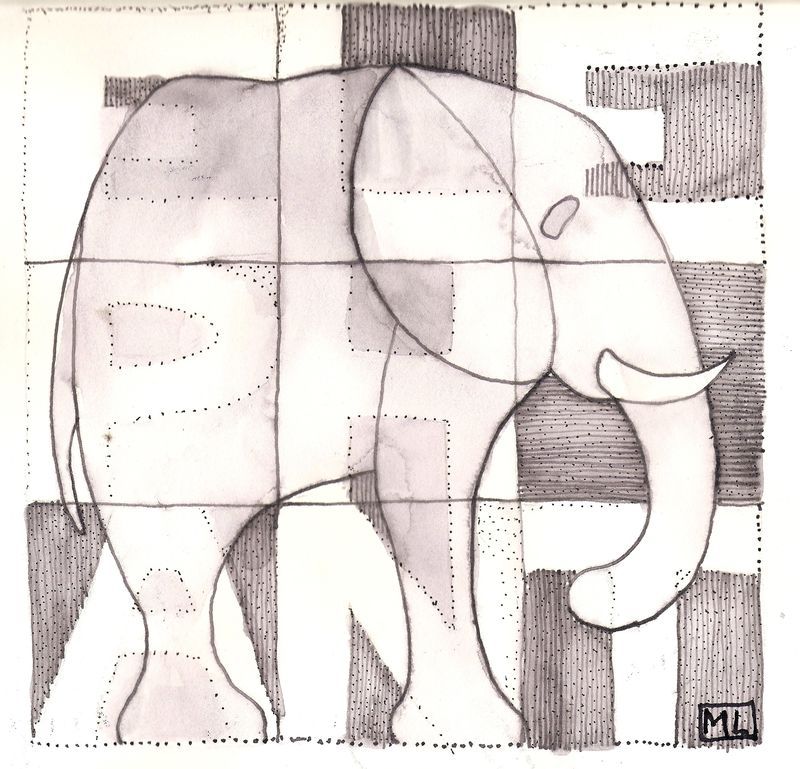 Elephant. Scanned Image 1