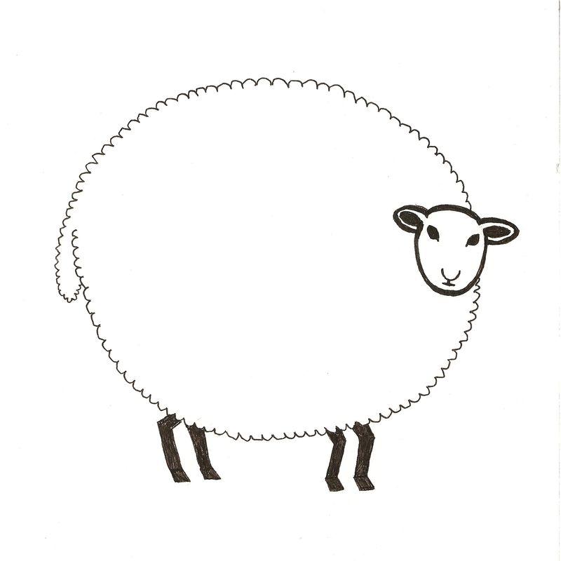 Sheep. Scanned Image